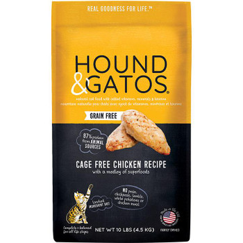 Cats know what they like to eat and that is why Hound and Gatos created a complete menu of animal protein packed foods for pets like yours.