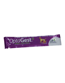 OptaGest is a daily digestive supplement for dogs and cats. This gentle, yet effective formula of the prebiotic organic inulin and four plant-based enzymes supports normal digestion that is sometimes upset by food change, travel, stress, separation or the usual aging process. OptaGest is a complete digestive supplement made with high levels of active ingredients and NO inactive ingredients such as fillers, sugars or preservatives that could further upset sensitive systems.