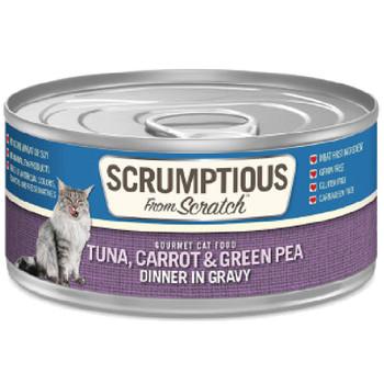 SCRUMPTIOUS CAT TUNA CARROTS & PEAS GRAVY 2.8OZ