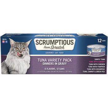 SCRUMPTIOUS CAT TUNA 2.8OZ VARIETY PACK
