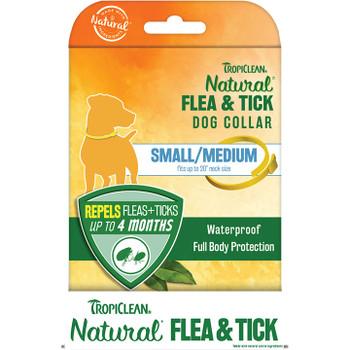 TROPICLEAN DOG FLEA & TICK SMALL/MEDIUM COLLAR 6 PIECE DISPLAY