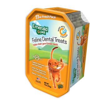 Emerald Pet Feline Dental Treat Tub Chicken 11oz