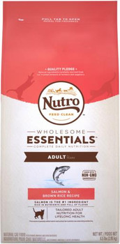 Nutro Wholesome Essentials Adult Cat Salmon & Brown Rice Cat Food 5lb C=3
