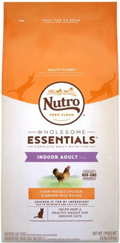 Nutro Wholesome Essentials Indoor Cat Adult Chicken & Brown Rice Cat 5lb C=3