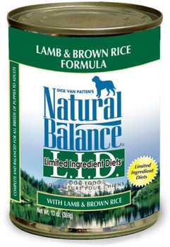 Natural Balance Limited Ingredient Lamb & Brown Rice Canned 12/13 oz.