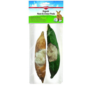 The new Kaytee Kapok material is safe an all natural.  Made from natural kapok filling, a plush and silky fiber from Kapok tree.  It encourages natural burrowing and nesting instincts.