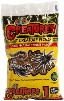 Zoo Meds Creature Floor is a natural cypress mulch substrate.  It provides your terrarium with a natural forest floor look while retaining moisture to provide humidity to the enclosure.