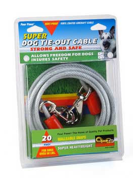 Four Paws Super Tie Out Cable Silver 15 Ft