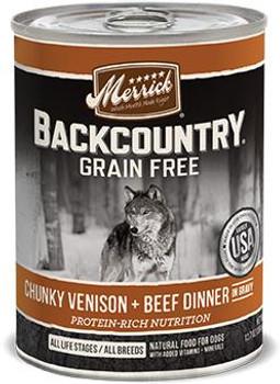 Merrick Backcountry Chunky Venison + Beef 12/12.7Z