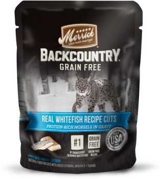Merrick Backcountry Real Whitefish Cuts Recipe Cat 24/3 oz