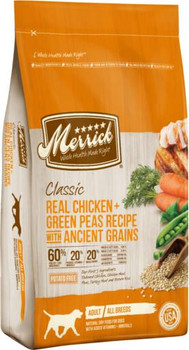 Merrick Classic Real Chicken + Green Peas Recipe with Ancient Grains 4lb C=6