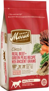 Merrick Classic Real Beef + Green Peas Recipe with Ancient Grains 4lb C=6