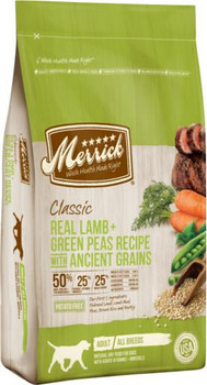 Merrick Classic Real Lamb + Green Peas Recipe with Ancient Grains 4lb C=6