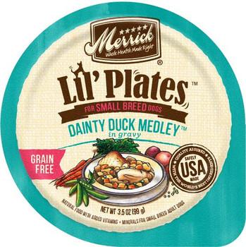 Merrick Lil'Plates Grain Free Dainty Duck Medley 12/3.5Z