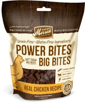 Merrick Power Bites - Big Bites Real Chicken Recipe Training Treats 6Z C=6