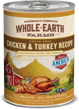 Merrick Whole Earth Farms Chicken & Turkey Recipe 12/12.7oz