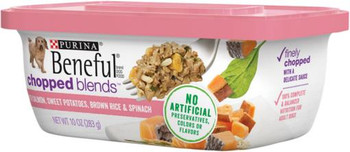 Beneful Chopped Blends With Salmon, Brown Rice Sweet Potatoes, & Spinach 8/1