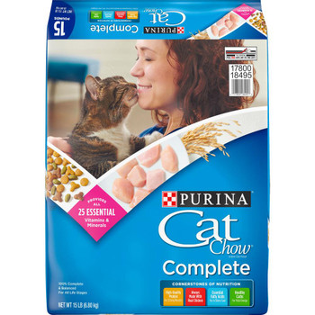 Purina Cat Chow Complete Dry Cat Food 15lb *REPL 178007