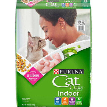 Purina Cat Chow Indoor Dry Cat food 15lb *REPL 178013