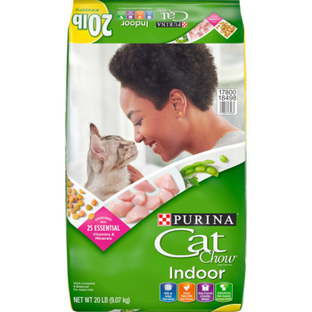 Purina Cat Chow Indoor Dry Food 20lb *REPL 178312