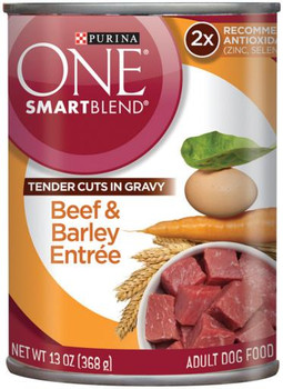 Purina One Tender Cuts With Gravy Beef Can Dog 12/13.0oz