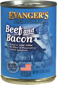Evanger's Heritage Classic Beef & Bacon Can Dog Food 12ea/12.6oz