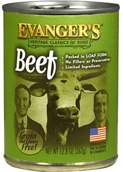 Evanger's Heritage Classic Beef Can Dog Food 12ea/12.6oz