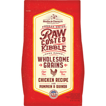 STELLA & CHEWY'S DOG WHOLESOME GRAIN RAW COATED CHICKEN 22LB
