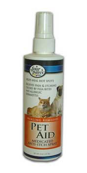 Four Paws Pet Aid Medicated Anti-itch Spray 8oz