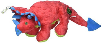 Our popular goDog Dinos still rule the earth! These toys are a favorite among dogs! Frills is made with soft bubble plush fabric and lined these toys stand up to tough play. Squeakers add to the fun and minimal stuffing gives these toys a fun floppy feel that dogs love! Available in small and large for dogs of all sizes to enjoy.