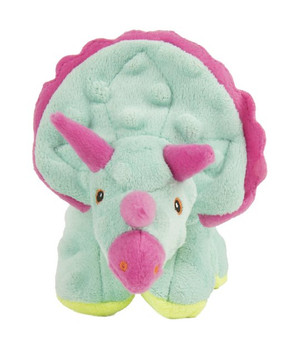 Our popular goDog DinosTriceratops toys are a favorite among dogs! Made with soft plush and lined with Chew Guard Technology, these toys stand up to tough play. Minimal stuffing gives these toys a fun floppy feel that dogs love! Available in small and large for dogs of all sizes to enjoy. goDog plush dog toys are designed to be stronger and last longer, no matter how your dog plays. These soft plush toys are made more durable w
