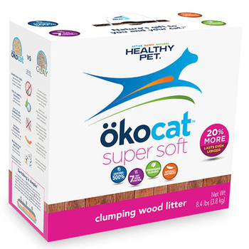 okocat Wood Super Soft Clumping Cat Litter 8.4lb
