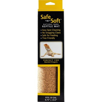 New Safe N Soft mat is a revolution in cage flooring. No plastic fibers to snag claws, no loose pieces to be ingested accidentally. This renewable cork mat is safe for even juvenile reptiles.