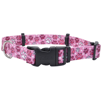 Our Hideaway Adjustable Flea Collar Protector covers and holds flea collars in place. Flea collar not included. This patent-pending flea collar protector features keepers that are flexible to accommodate different thicknesses of flea collar construction.