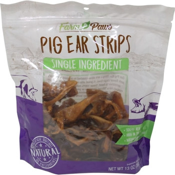We take pride in producing healthy treats made with farm-fresh flavor. Our naturally derived Pig Ear Strips are made from 100% pork and contain no artificial additives or preservatives. Slow roasted and fully digestible, these natural dog treats contain savory pork flavor that dogs crave. Plus, they're a healthy option for canines with beef sensitivities and help clean teeth and gums during chewing. Our grain-free dog treats are crafted to perfection for a treat you can give confidence!