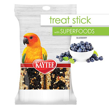 Kaytee reg; Treat Stick with SUPERFOODS adds a nutritious punch for a guilt-free experience. Treat sticks provide a fun way to add healthy and tasty enrichment to your pet's diet