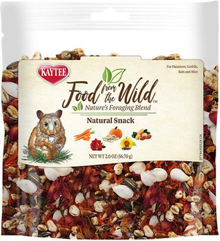 Kaytee  reg; Food From the Wild Natural Snack is a premium medley crafted to bring the variety nature intended to your small pet's diet. Made with a limited amount of whole ingredients to make a tasty and healthy treat.