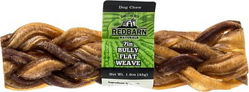 Redbarn 7in Bully Flat Weave is several bully sticks woven together to create a super thick, durable , long lasting chew that your dog will love .