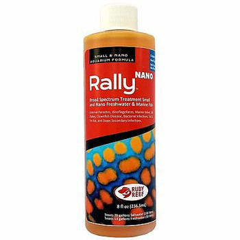 A copper free treatment for freshwater and marine fish with bacterial fin rot, gill flukes or marine parasites (e.g. Marine Velvet, or Clownfish disease).   Reef Safe.  Safe for all fish, corals and invertebrates.  Safe for Nitrosomonas, Nitrobacter and other bacteria essential for biofiltration.