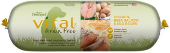 Freshpet Vital Grain Free Chicken Salmon, Beef & Eggs 2 lb. Roll SD-5