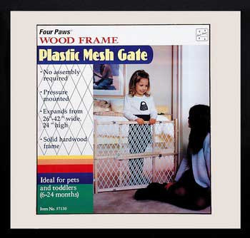 Four Paws Smart Essentials Wood Frame With Plastic Mesh 26-42w X 24h