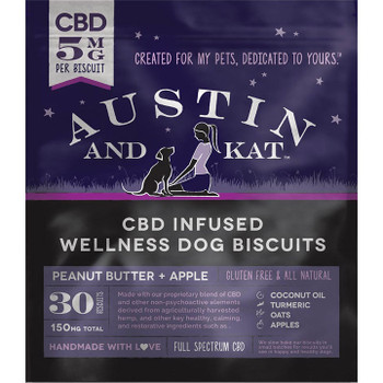 AUSTIN AND KAT DOG CBD BISCUITS TRAVEL 5MG .5OZ