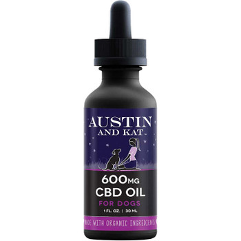 AUSTIN AND KAT DOG CAT CBD COCONUT OIL 600MG 1OZ