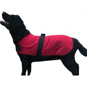 HUGGLEHOUNDS DOG JACKET RED XLARGE
