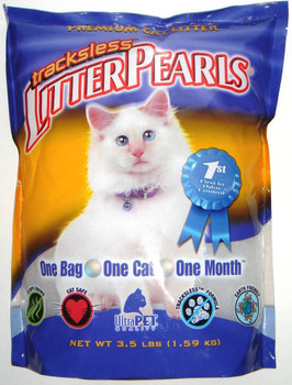 LITTER PEARLS Tracksless Cat Litter 3.5lb