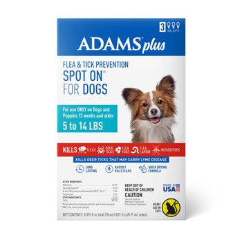 Adams Plus Flea & Tick Spot On for Small Dogs 3 Month