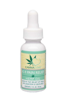 CannaLove K-9 Pain Relief Hemp Oil 1oz