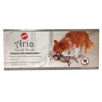 Ethical Aria Double Diner Dog Bowl 1pt
