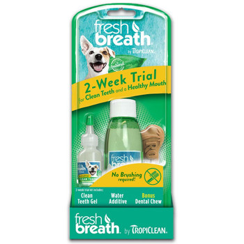 Fresh Breath by TropiClean 2-Week Dental Trial Kit Counter Display 4pk/3pc