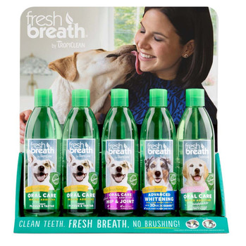 Fresh Breath by TropiClean Water Additive Display 15pc